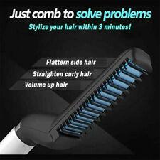 Multifonctionnel Cheveux Style Peigne Brosse Rapide Barbe Lissage Fer À Friser Hommes
