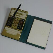 Addiator Duplex Messing mit grünem Kunstlederetui. Mint.  Calculator ca 1970