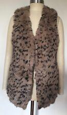 BNWT Designer Longline Genuine Rabbit Fur Knit Vest/ Gilet One Size