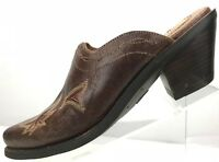 Ariat Scarlette Mules - Western Slide Snip Toe Leather Heels Women's 6 B Brown