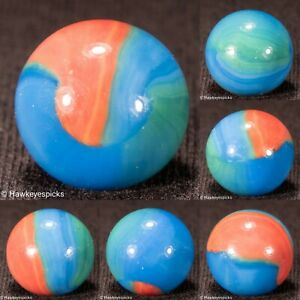 Marble King RADIOACTIVE SPIDERMAN Late Period Marble 5/8- Mint hawkeyespicks sg