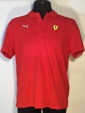 Ferrari Puma Sport Lifestyle Men XL Official Team Racing Shirt Cotton Red 0177