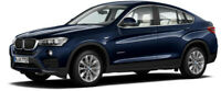 PARAGON 97092 BMW X4 diecast model road car Imperial blue 1:18th scale