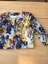 River Island Size 8 Floral Cropped Bold Print Blazer Jacket Biker