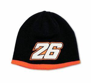 Official MotoGP Dani Pedrosa #26 Mens Beanie Hat Blue/Orange Universal Size