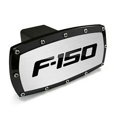 Ford F-150 Black Trim Engraved Billet Aluminum Tow Hitch Cover
