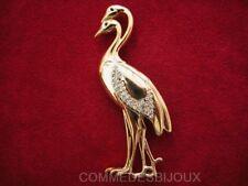 """Broche """"Double Héron"""" By FRIED Echassier Ardéidés Lac - Bijoux pur Collection"""