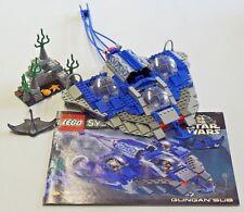 LEGO Star Wars THE PHANTOM MENACE GUNGAN SUB #7161 Built Partial