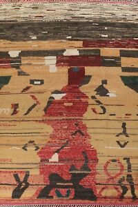 Geometric Modern Moroccan Berber Oriental Area Rug Hand-knotted Plush Wool 10x14