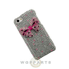 Apple iPhone 5C/i5C/Lite Shield Crystal White with Pink Bow Tie Case Cover Shell