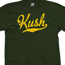 Kush Script Tail T-Shirt - Star Sports Team Weed Bud Purp - All Sizes & Colors
