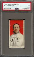 Rare 1909-11 T206 Bill Milligan Sovereign 350 Jersey City PSA 1.5