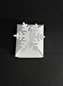 Die cut gift box with snowflake party favours christmas flat x 6