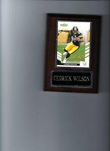 CEDRICK WILSON PLAQUE PITTSBURGH STEELERS FOOTBALL NFL   C