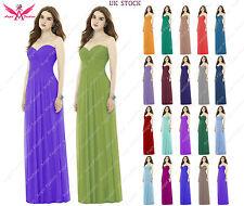 A-Line/Princess Full-Length Chiffon Evening Prom Bridesmaid Dress size 6 to 24
