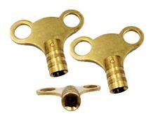 2 x Radiator Key Bleed Plumbing Tool Air Value Bleeding Solid Brass Square Keys