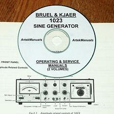 Bruel & Kjaer 1023 Sine Generator, Manuals,  Operating & Service+Schematics 2Vol
