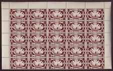 TAHITI  French Polynesia 1942 80c + 1F CANOE...FULL MINT SHEETS..cv£80