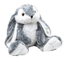 """Peluche """"Hoppel"""", coniglio morbido bianco e grigio argento cm 35x20x14"""