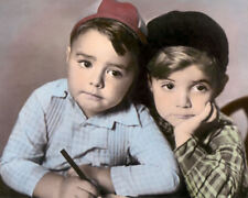 """SPANKY & SCOTTY OUR GANG THE LITTLE RASCALS 8x10"""" HAND COLOR TINTED PHOTOGRAPH"""