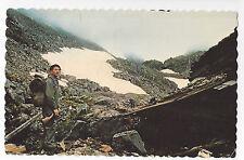Ak Chilkoot Pass Summit Alaska Canada Bc Trail Hiker Rifle Vtg 1973 Postcard