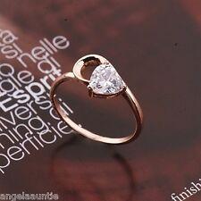18K Rose Gold Filled Clear CZ Ring (R-155)