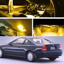 Xenon Yellow LED Light Bulb Interior Package Kit For Honda Prelude 1992 - 1996