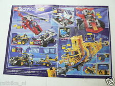 LEGO BROCHURE FLYER CATALOG TOYS TECHNIC 1997 DUTCH 2 PAGES 054