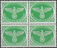 Stamp Germany Feldpost Mi 4 Sc MQ2 Block 1944 WW2 Field Post Eagle Army MNH