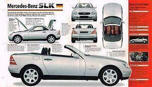 1996/1997 MERCEDES-BENZ SLK SPEC SHEET/Brochure/Catalog
