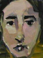 JOSE TRUJILLO Small 6X8 Contemporary OIL PAINTING Canvas Board Portrait Face