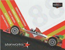2017 Starworks Motorsport #88 Chevy Oreca PC Rolex 24 IMSA WTSC postcard