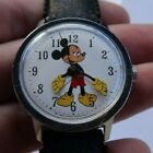 Vintage Mens Timex Walt Disney Productions Mickey Mouse Wind Up Watch Wristwatch