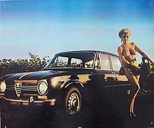 Älteres Blechschild Oldtimer Alfa Romeo PKW seyx Girl gebraucht used nur noch 1x