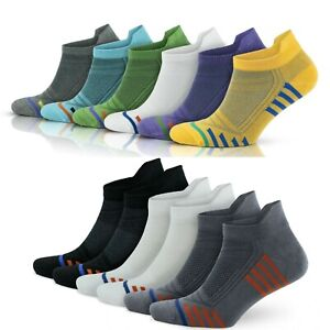 mens womens bamboo running socks 6 pairs ankle trainer sport socks gym cycling