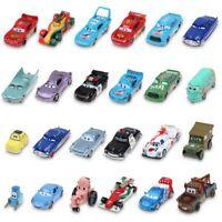 1:55 Disney Pixar Metal Diecast Cars1-3 King Mcqueen Frank Mater Sally Kids Toys