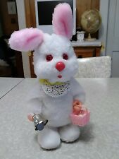 Vintage SuperFine toy bell ringing easter bunny.
