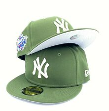 Yankees World Series 1998 59FIFTY New Era Rifle Green Fitted Hat Cap Gray Bottom