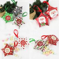 2020 5PCS Christmas Star Cand Box Baking Candy Bag Paper Gift Boxs Xmas Party