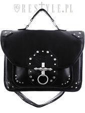 Restyle Snake Bite Goth Punk Rocker Black Emo Satchel Messenger Handbag Purse