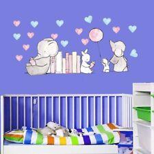 Cartoon Diy Animal Balloons Wall Stickers Elephant Rabbit Stars Room Decor Baby