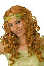 Perruque de fée d'elfe ou de princesse rousse vert et jaune theatre deguisement