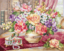 Counted Cross Stitch Kit ALISA 2-50 - Roses in the living room