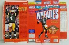Brett Favre Green Bay Packers Wheaties Flat Cereal Box