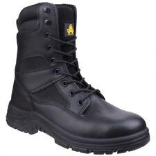 Amblers Combate De Seguridad Unisex para Hombre Para Mujer Con Cordones Militar a mitad de la pantorrilla botas negro
