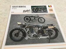 Fiche moto collection Atlas Motorcycle Gillet Herstal 500 sport 1926