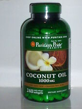 COCONUT OIL 1000MG W/ LAURIC ACID & ESSENTIAL FATTY ACIDS ENERGY 240 SOFTGELS