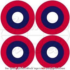 USAF American Expeditionary Force AEF Flugzeug WWII Roundel Sticker Aufkleber x4