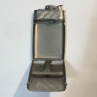 "RARE VINTAGE EVANS SILVER LIGHTER & CIGARETTE CASE 4"" x 2.5"" opens to case"