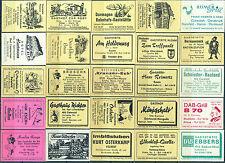 25 alte Gasthaus-Streichholzetiketten aus Deutschland #507